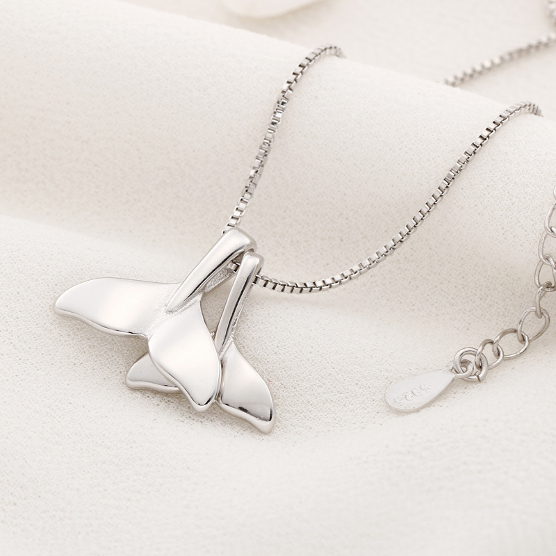 Sterling Silver Whale Tail Charm