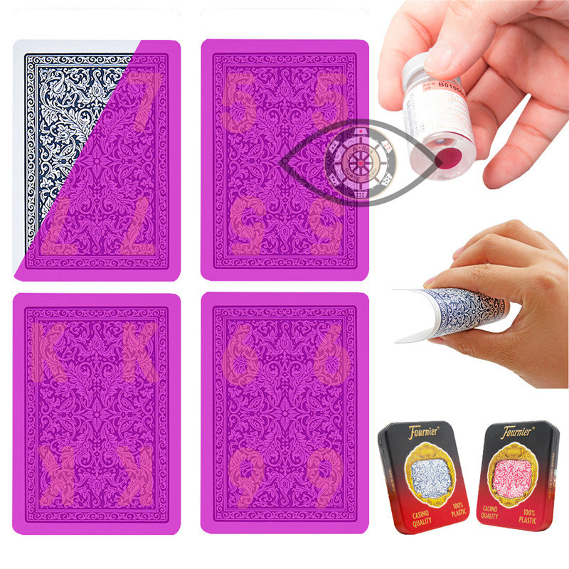Invisible Poker Fournier 2818 Plastic Playing Cards Marked Cards for Perspective Glasses UV Contact Lenses Anti Poker <font><b>Cheat</b></font> image