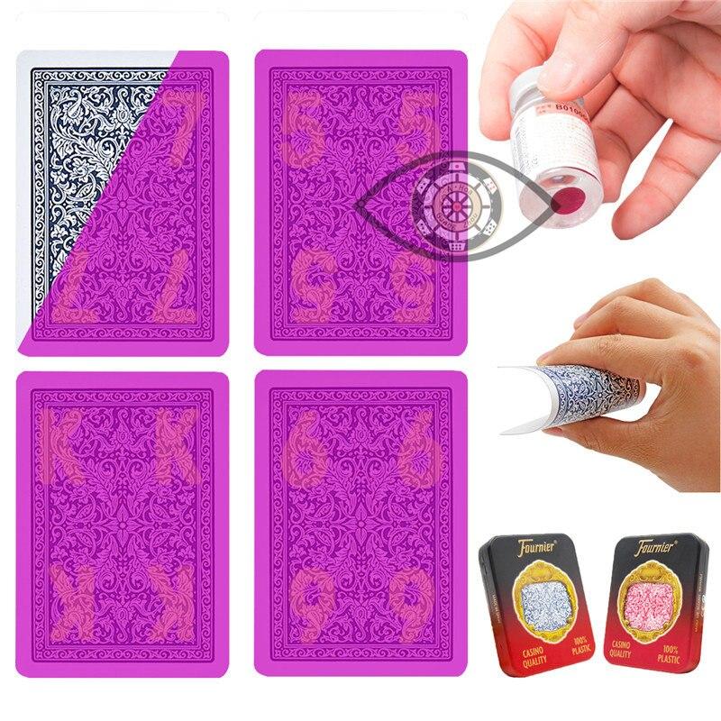 Invisible Poker Fournier 2818 En Plastique Cartes À Jouer Cartes Marquées pour la Perspective Lunettes UV Lentilles de Contact Anti Poker Trichent