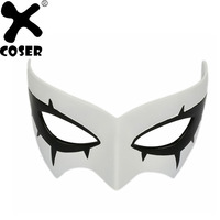 XCOSER 2018 New Brand Sale Game Persona 5 Joker Masks PVC White Mask Party Cosplay Accessories Masks Festival Gift For Women Men
