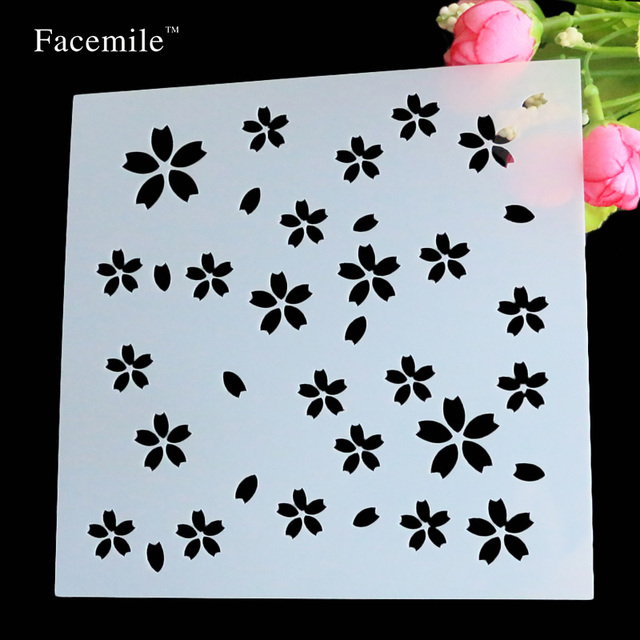 scrapbooking tool card diy album masking spray painted template drawing stencils laser cut templates flowers free