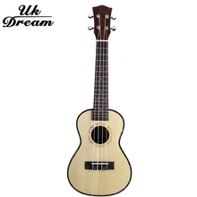 23 Inch Acoustic Guitar New Style Musical Instruments Four Strings 17 Frets Guitars Spruce Rosewood Veneer ukulele  UC-53A цена