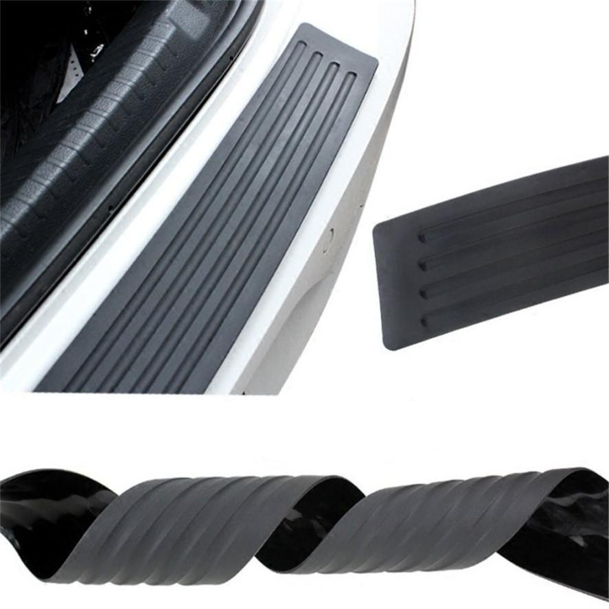 Exterior Parts Automobiles & Motorcycles Universal Car Black Rear Bumper Sill/protector Plate Rubber Cover Guard Trim Pad For Dropshipping Or Wholesale
