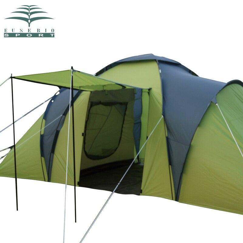 EUSEBIO Professional 2 Bedroom 1 Living Room Anti Rain 5 6 Person Hiking  Party Base