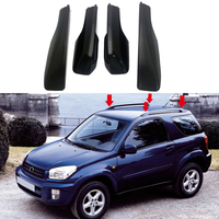 Black Car Styling Roof Rack Cover Bar Rail End Replacement Shell Accessories 4pcs for Toyota RAV4 XA20 2001 2002 2003 2004 2005