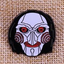 Badge Slasher HORROR MOVIE Jason Enamel-Pin Krueger Michael Killers Freddy Myers