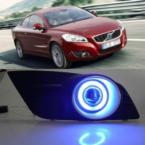 Ownsun Super COB Angel Eye Fog Light Cover Projector Lens for Volvo C70 2010-2012 ownsun innovative super cob fog light angel eye bumper cover for skoda fabia scout