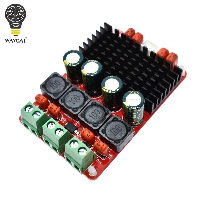WAVGAT TPA3116D2 50Wx2 2,0 tablero amplificador TPA3116 PBTL 100 W ESTÉREO amplificadores de Audio DC 24 V para 4OHM 8OHM altavoz