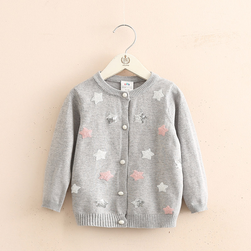 Baby Stars Knit Cardigan 2019 Spring Autumn Clothing New Girls Childrens Wear Coat Sweater Girl Cardigan V-Neck  Casual  KidsBaby Stars Knit Cardigan 2019 Spring Autumn Clothing New Girls Childrens Wear Coat Sweater Girl Cardigan V-Neck  Casual  Kids