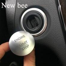 Newbee Universale Per Mercedes Benz Keyless Go di Arresto di Inizio del Motore Pulsante Interruttore di Accensione Della Copertura C200 A45 G55 S63 ML350 GLK350 s350