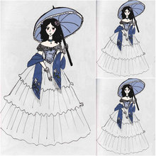 Customer-made Black Halloween Dresses Gothic Cosplay Victorian dress Renaissance Dress Steampunk dress SZ US6-36 V-259