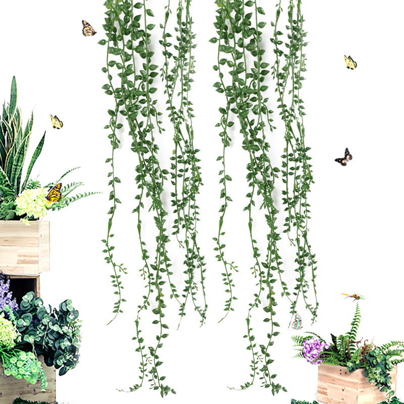 Artificial Flower String PU Fake Tear Of Lover DIY Green Wall Hanging Plant Succulents Garden Wreath Home Party Wedding Decor
