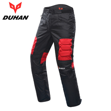 DUHAN Moto Pantalon D'équitation Route Moto Pantalon Pantalon de Course Pantalon Coupe-Vent Moto Pantalon avec Genouillères Gardes DK-02