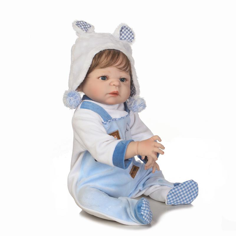 55 cm bebe reborn 22 pouces Silicone vinyle Reborn bébé garçon poupées NPK marque enfants jouets cadeau Brinquedo bonecas - 6