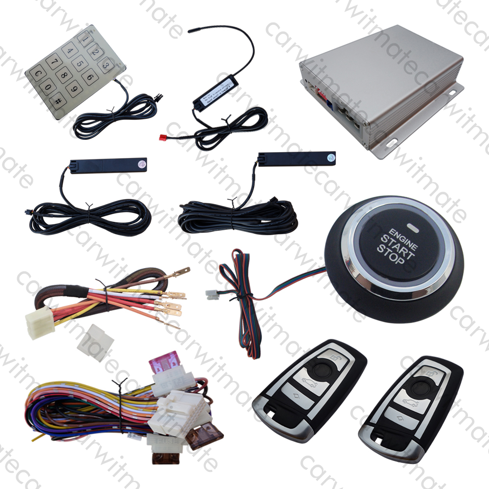 Quality PKE Car Alarm System Push Button Start Stop Remote Engine Start Touch Password Keyless Entry Remote Trunk Release universal pke car keyless entry alarm system with remote engine start push start stop button trunk release