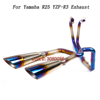 Motorcycle accessories full Exhaust System pipe for YAMAHA R25 R3 without exhaust