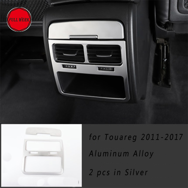1 Set Car Rear Air Vent Outlet Trim Cover Frame Plate for VW Touareg 2011 2018