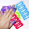 1 Folha de Descascar a Fita de Plástico Paliçada Protector Prego Fácil rápido Limpo Pintura Da Arte do Prego UV Polonês Gel Carimbar A Placa ferramentas