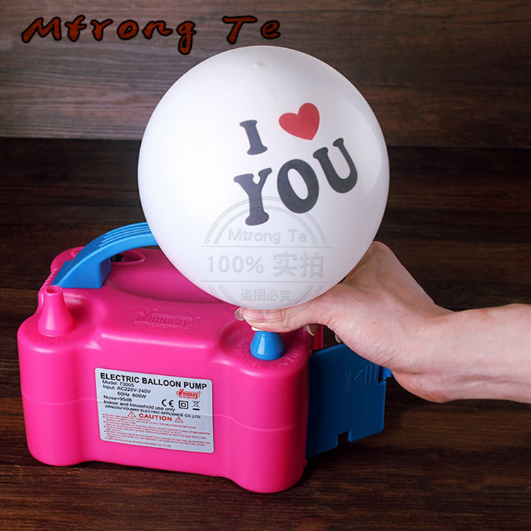 220V or 110V High Voltage Double Hole AC Inflatable Electric Air Balloon Pump Electric Balloon Inflator Pump machine Mtrong Te