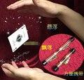 15 unids 9 cm Envío Libre Tarjeta Trucos Carrete Hilo Invisible Flor Flotante levitación Flotando trucos de magia magia prop YH156