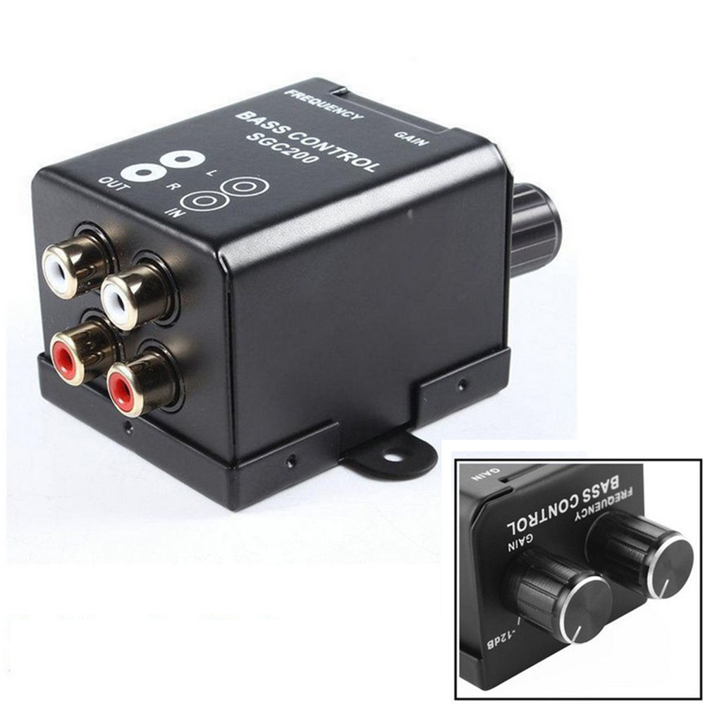 Car Remote Amplifier Bass Controller 2 RCA Gain Adjust Level Volume Control Knob Horn Audi