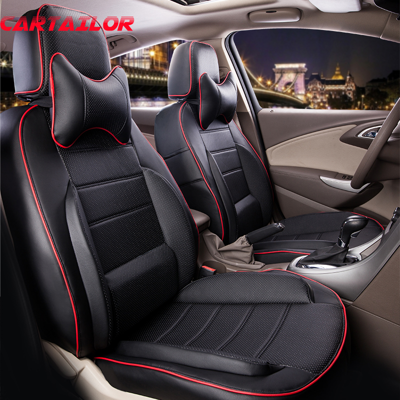 CARTAILOR Car Seat Protector PU Mitsubishi Asx Seat Covers - Автокөліктің ішкі керек-жарақтары - фото 6