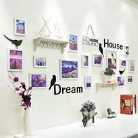 Decorative Wall Frame Set Wooden Photo Frame Wall Hangings Picture Frame Set Family Office 15pcs/set decoracion hogar moderno