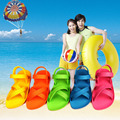 Vietnam natural rubber sandals Women candy color jelly sandals beach shoes