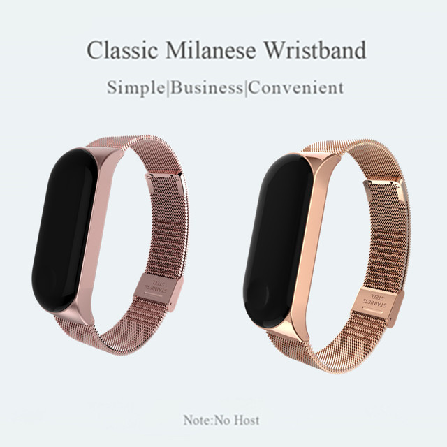 Mi Band 3 4 Wrist Strap Metal Screwless Stainless Steel For Xiaomi Mi Band 4 3 Strap Bracelet Miband 4 3 Wristbands Pulseira 1