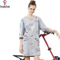 2017 New Print Cotton Nightgowns Sleepshirts Female Sleep Lounge Women Indoor Clothing Casual Home Sleep Nightdress