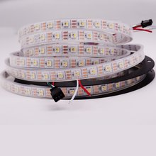 rgbw ww warmweiss sk6812 ahnliche ws2812b 16 4ft 5 mt 60 leds pixel m einzeln adressierbare flexible 4 farbe in 1 led dc 5 v
