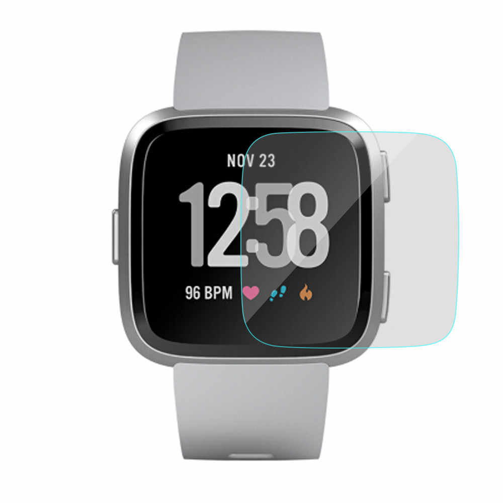 Nueva película protectora de pantalla LCD de vidrio templado HD transparente duradera para Fitbit Versa # T2