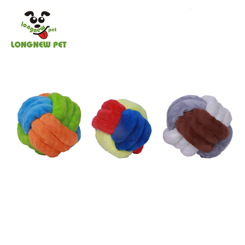 Dog Fleece Rope Toy Durable Chew Knot Ball for Aggressive Puppy Pets Various Size