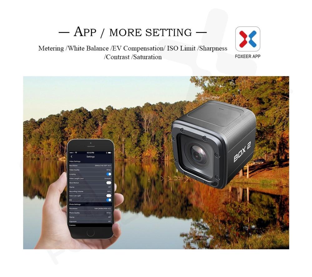 재고 있음 Foxeer 상자 2 4 K HD 액션 FPV 카메라 SuperVison 1080 P 155 학위 방수 Wifi 스포츠 카메라 45 분 완전 충전-에서부품 & 액세서리부터 완구 & 취미 의  그룹 3
