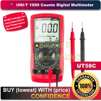 Uni t UT58C Standard Electrical Digital Multimeter Volt Amp Ohm Hz Temperature Tester Meter