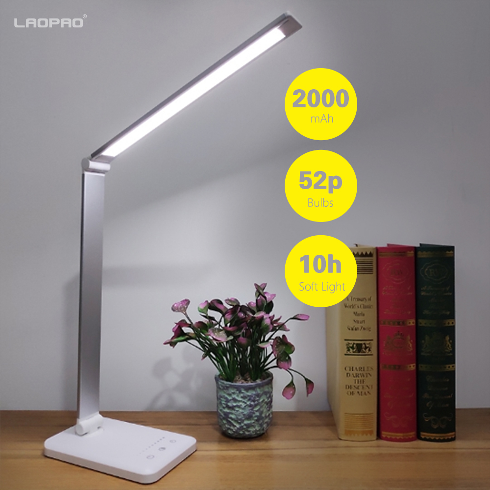 Licht & Beleuchtung schützen Led Tisch Licht Lampen & Schirme Liberal Laopao 52 Pcs Led Schreibtisch Lampe 3 Farbe Modi X 10 Dimmbar Ebenen Touch 2000 Mah Usb Aufladbare Lesen Auge