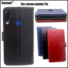 Casteel Classic Flight Series high quality PU skin leather case For Tecno Camon 11s i4 Case Cover Shield