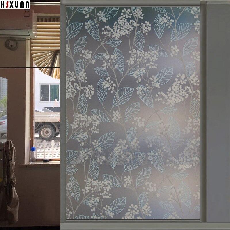 Impermeabile di vetro pellicole per vetri fiore albero decorazione camera da letto smerigliato - Pellicole per vetri casa ...