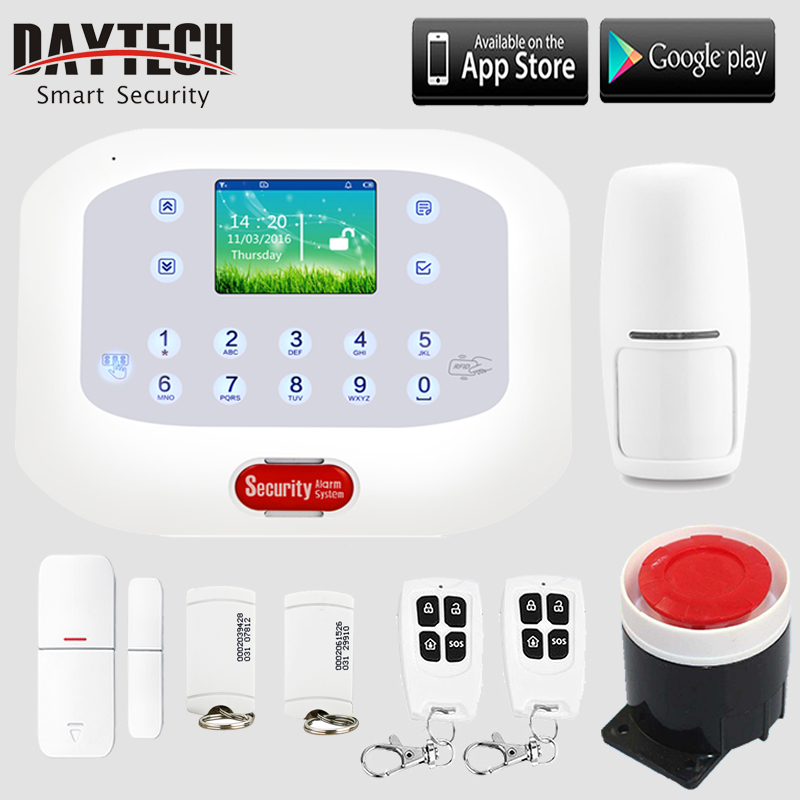 Wireless GSM PSTN Home Burglar Intruder Alarm Security System PIR Motion Sensor Door Magnet Sensor Back up Battery APP Control wifi gsm home security alarm system ios android control rfid keypad 433mhz wireless intelligent door window sensor pir sensor