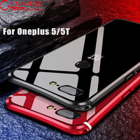 For Oneplus 5T Case Cover OnePlus 5t Cover Aluminum Metal Frame Mirror For One Plus 5
