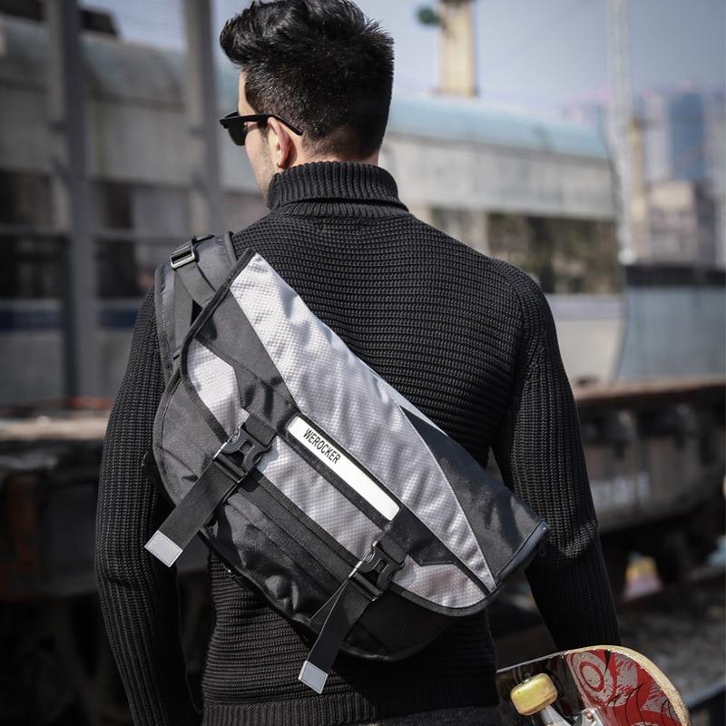 Men Fashion Bike Riding Messenger Bag Large Capacity for Laptop Sports Bag  for Man Boys Crossbody 4f5f026707ba7