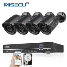 MISECU 4CH 1080P POE 48V Real NVR kit HD 2.0MP POE IP Camera IP66 Waterproof Outdoor P2P PoE Kit Email Alert CCTV Camera System