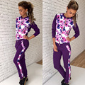 2017 Sexy fashion design full sleeve long print rompers overalls sweat suit women casual rompers WY6206