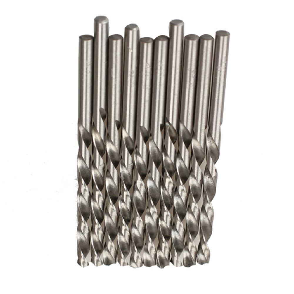 10pcs/set HSS Micro Twist Woodworking Drill Bits Auger Tools Set For Electrical Drill Carpenter Wood Plastic Metal Hole Tools