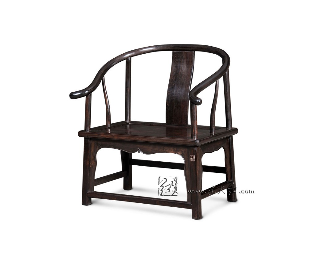 Klasik Cina Merah Wood Mebel Rendah Armchair Didukung Luar Ruangan Taman Kopi Bundar Sedia Kursi dengan