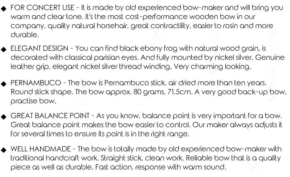 High Quality bow cello