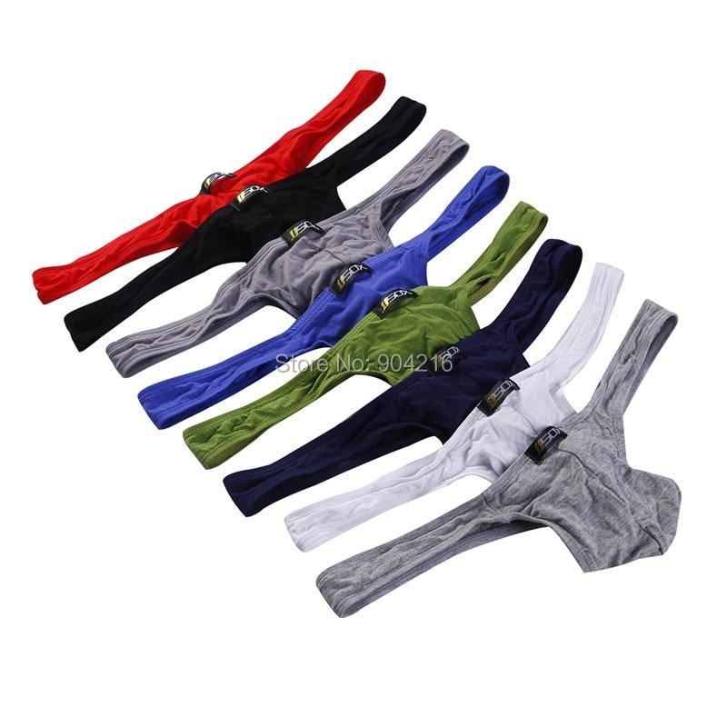 8PCS/Lot Men Sexy Underwear Modal Briefs Bikini G-string Thong String Herren Homosexuell Exotic Mens G String Underwear