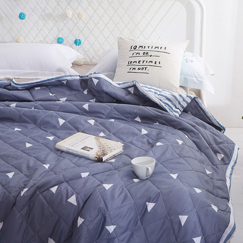 2018 Summer 1PCS Quilt Duvet Blanket Quilting For Double Single Bed Comforters Bedspread Bed Cover Home Textiles Gray