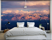 Custom Papel De Parede Wallpaper For The Living Room Sofa Backdrop Wall Paper Vinyl Wallpaper Mountain