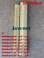 Z7 50x6x6cm Wood Carved Onlay Applique Carpenter Decal Wood Working Carpenter Leg Decoration
